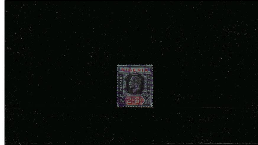 2/6d Black and Red on Blue - Die II<br/>