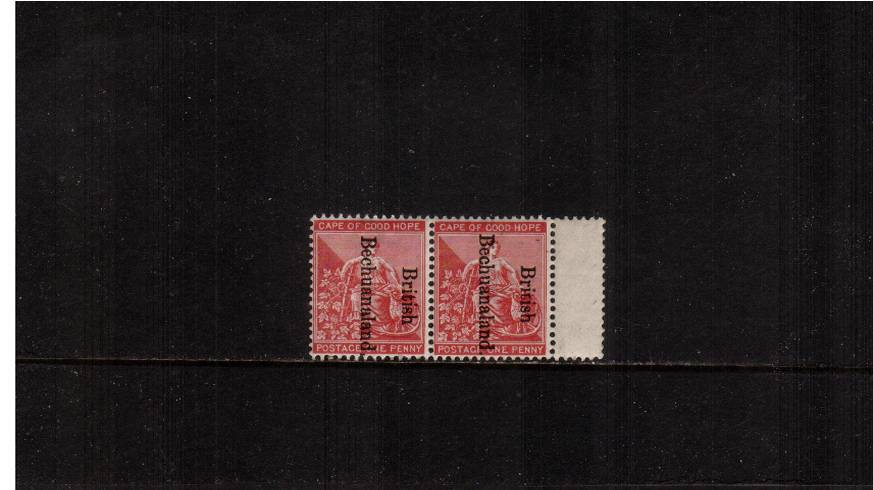 1d Carmine-Red - Overprint reads Downwards<br/>