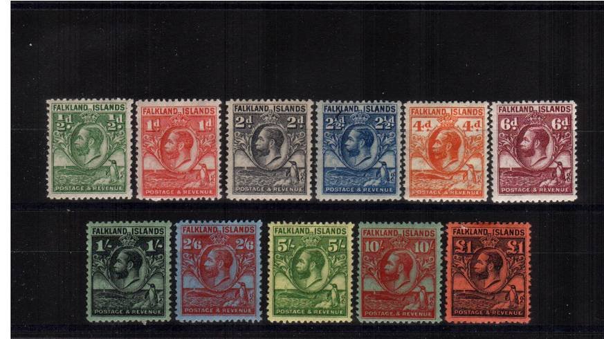 The famous ''Penguin and Whale'' set of eleven very,very lightly mounted mint. Fine and fresh. SG Cat £700