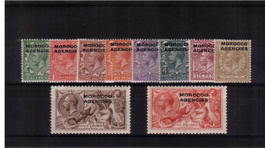 A superb unmounted mint fine and very fresh set of ten. A rare set to find unmounted!