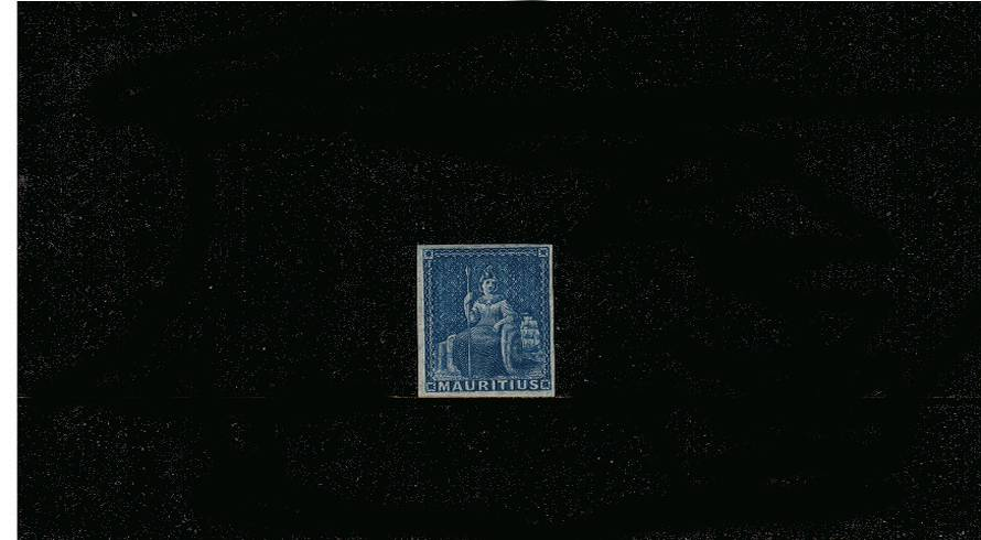 The ''No Value'' Blue - Prepared for use but not issued.<br/>