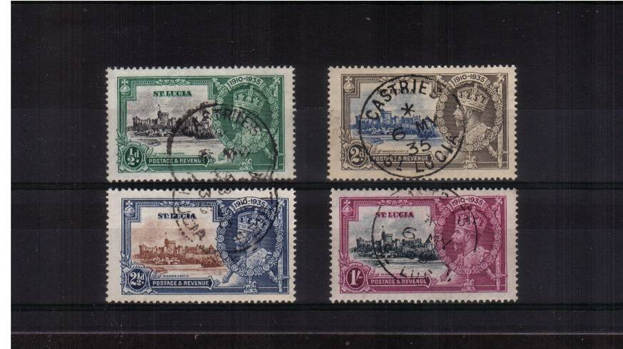 Silver Jubilee set of four superb fine used.<br/><b>SEARCH CODE: 1935JUBILEE</b><br/><b>QVQ</b>