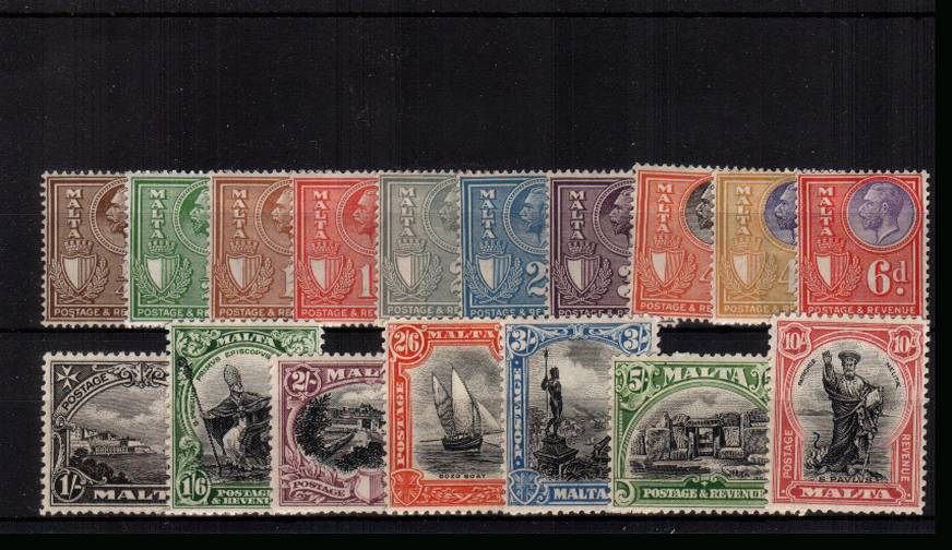 A fine and fresh set of seventeen lightly mounted mint. SG Cat �5<br/><b>UAU</b>