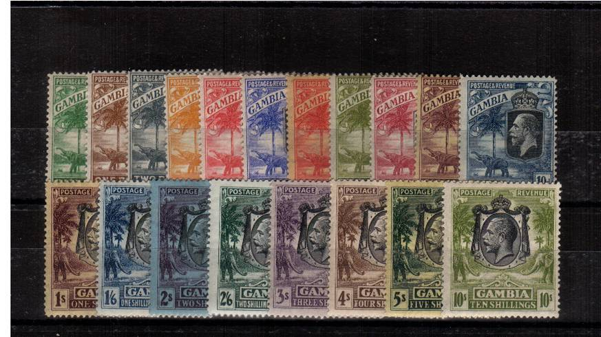 A fine very lightly mounted mint set of seventeen. A lovely bright and fresh set! 