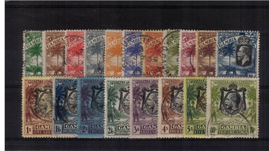 A superb fine used set of seventeen with each stamp cancelled with part CDS cancel. SG Cat �0