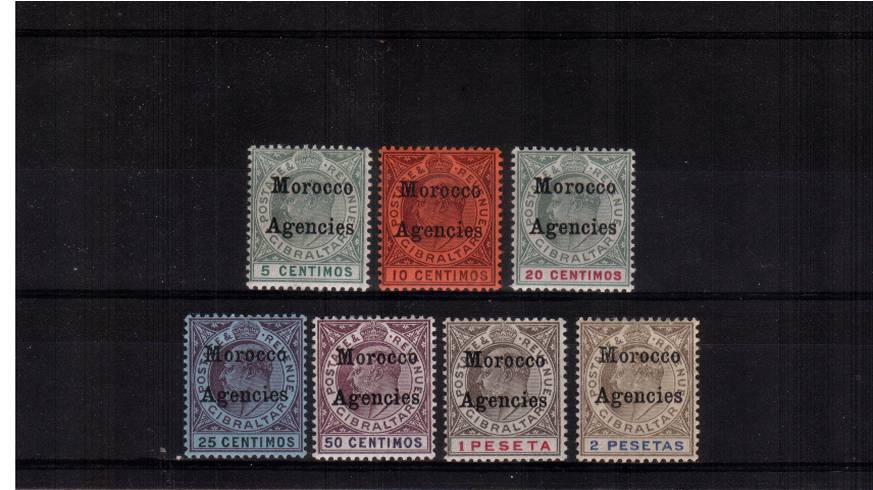 A fine lightly mounted mint set of seven. SG Cat �5