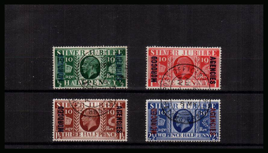 Silver Jubilee set of four superb fine used.<br/><b>SEARCH CODE: 1935JUBILEE</b><br/><b>UAU</b>