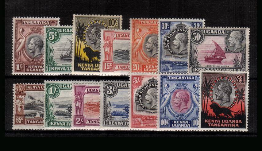 The pictorials definitive set of fourteen very lightly mounted mint with many being unmounted. SG Cat £475