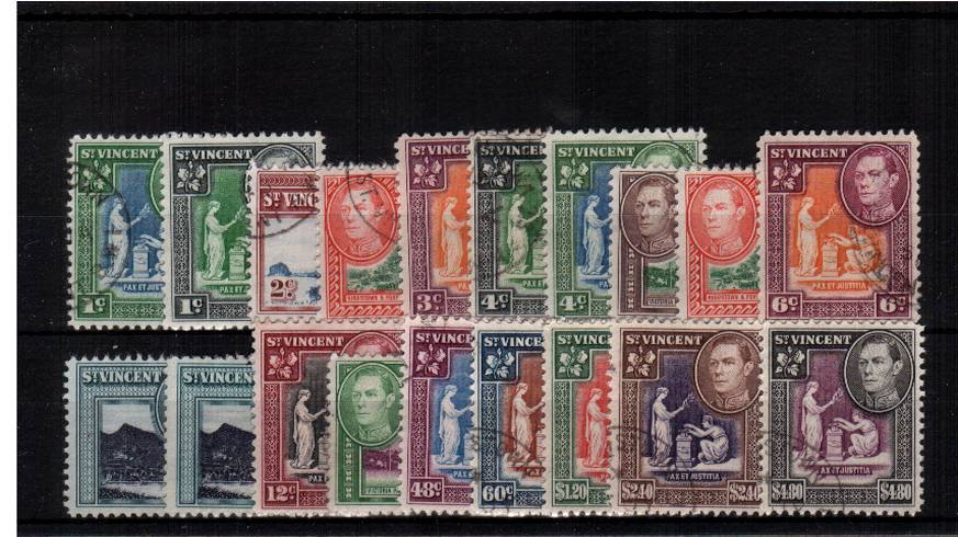A superb fine used set of nineteen with each stamp a selected example.