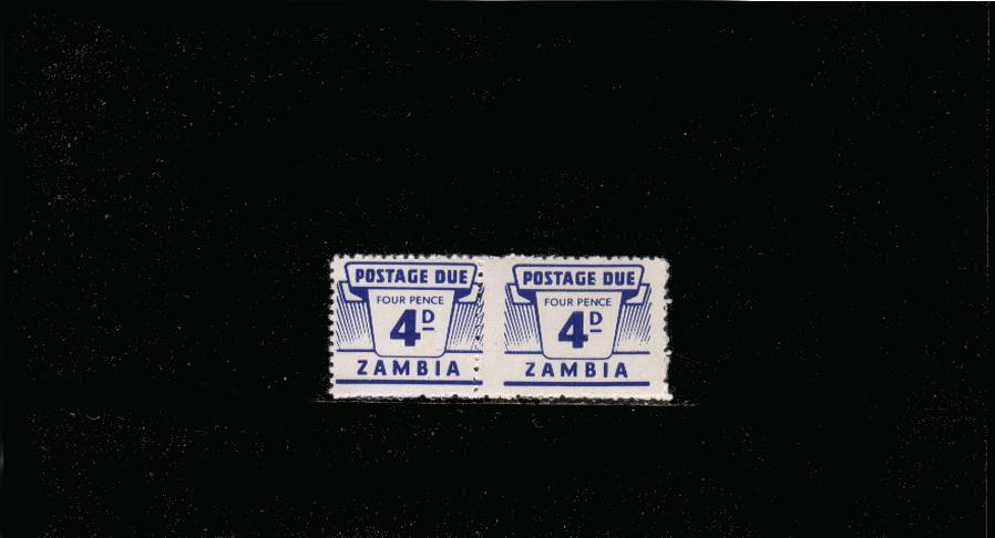 The 4d Ultramarine POSTAGE DUE<br/>