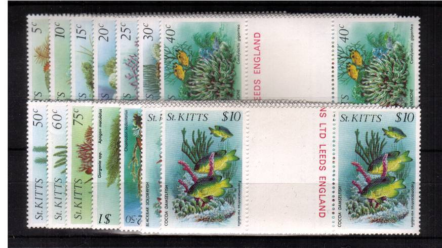 Fish - A superb unmounted mint set of fourteen in gutter pairs.<br/><b>UBU</b>