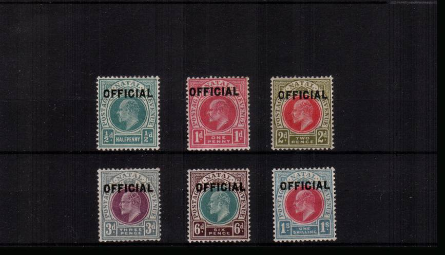 The OFFICIALS set of six fine lightly mounted mint.<br/>A lovely bright and fresh set. SG Cat �5 