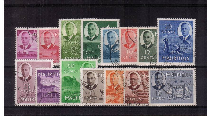 A superb fine used set of fifteen each stamp with a selected cancel. Pretty!  SG Cat �