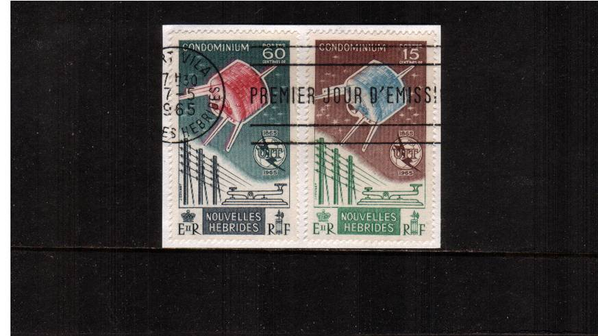 The ITU Centenary set of two superb fine used. SG Cat � 