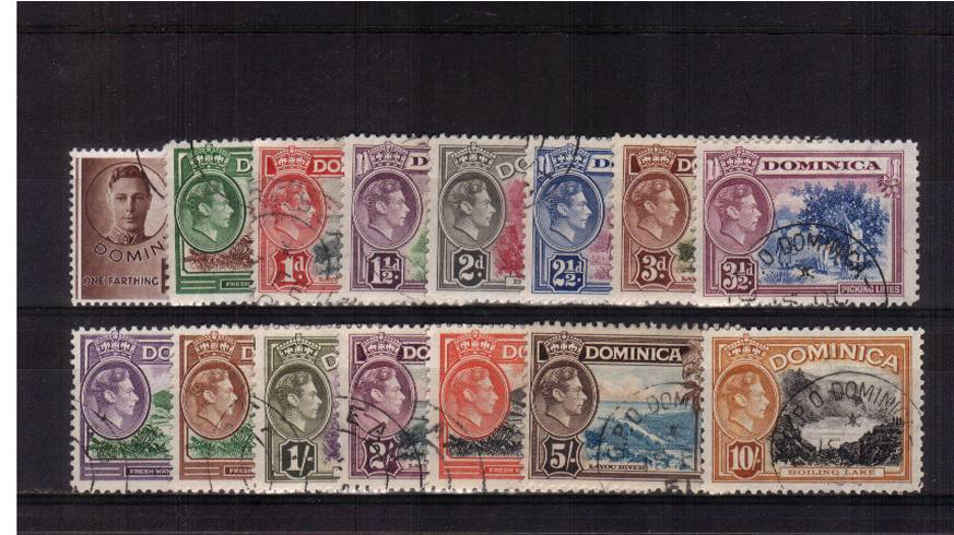 A superb fine used set of fifteen all with selected CDS cancels. SG Cat �