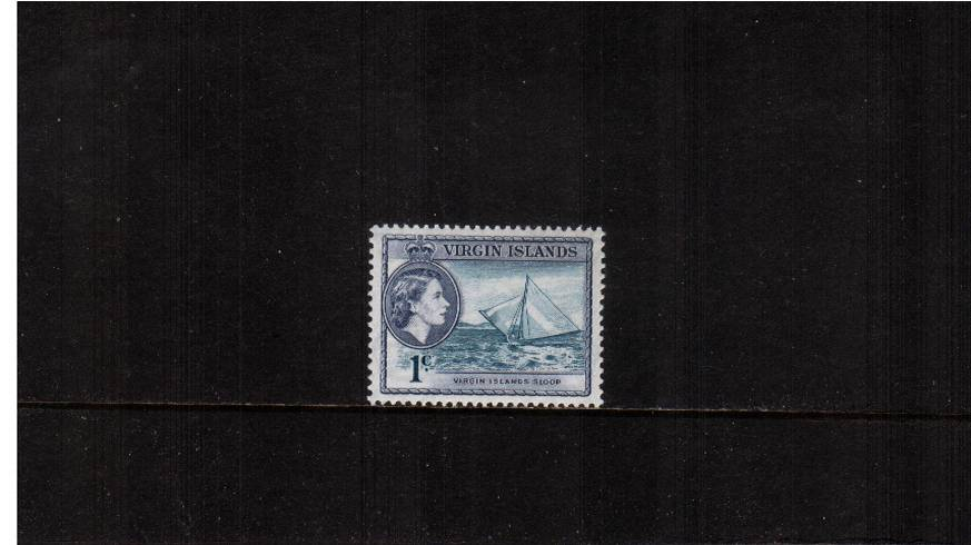 1c Turquoise and Slate-Violet<br/>
