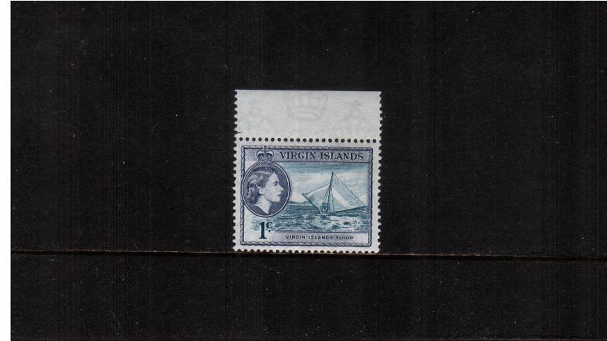 1c Turquoise and Slate-Violet