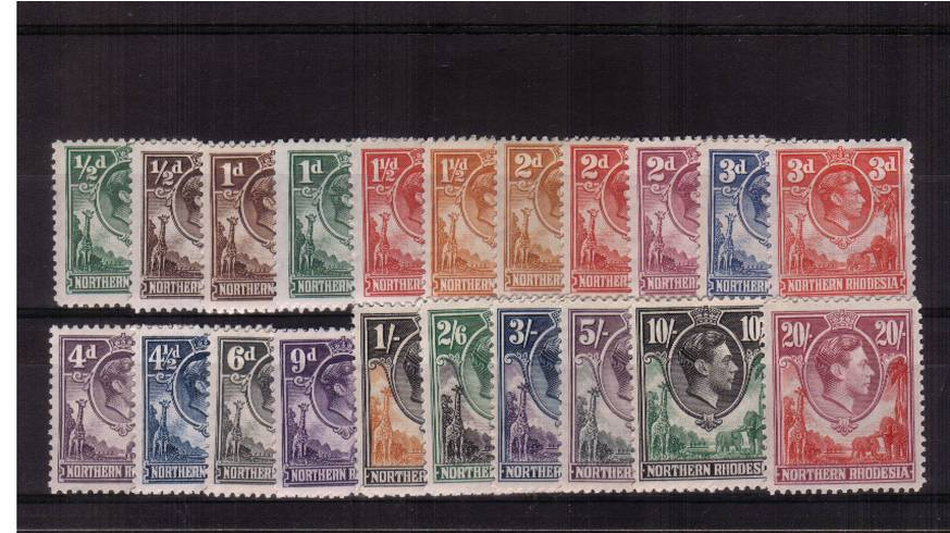 A good mounted mint set of twentyone. SG Cat �0<br/><b>UDX</b>