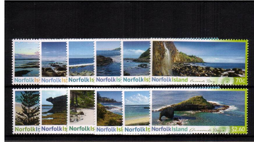 Shorelines of Norfolk Island<br/>A superb unmounted mint set of twelve<br/><b>UEU</b>
