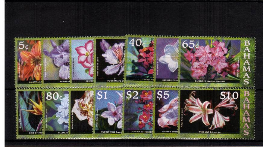 Flowers definitive set of fourteen - 2006 Imprint date<br/> superb unmounted mint.