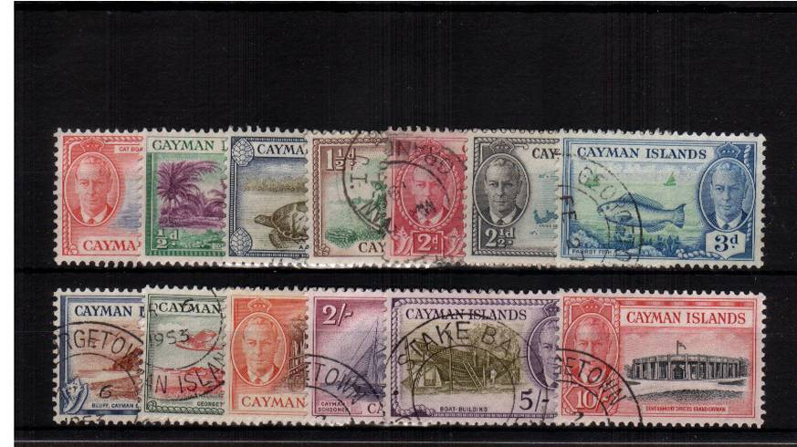 A superb fine used set of thirteen with each stamp having a CDS.