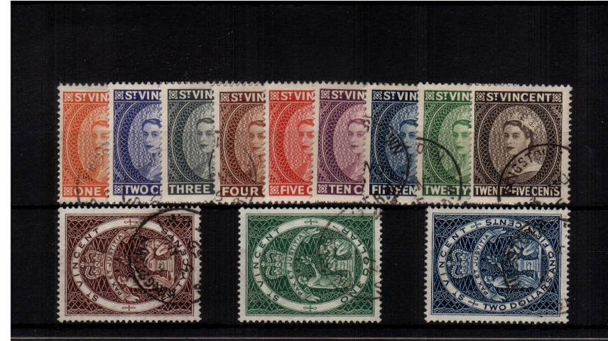A superb fine used set of twelve with each stamp having a selected CDS cancel.