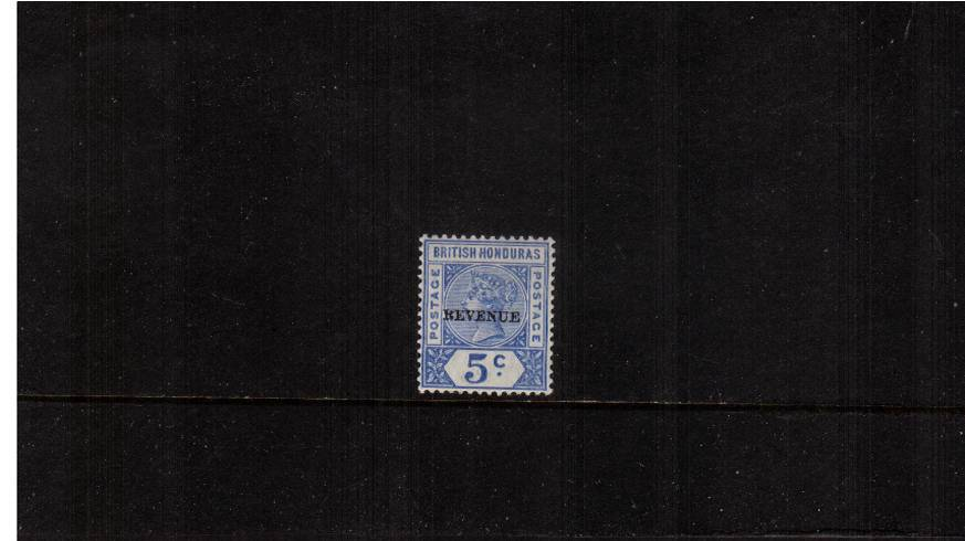 5c Ultramarine overprinted ''REVENUE'' - 12mm long<br/>