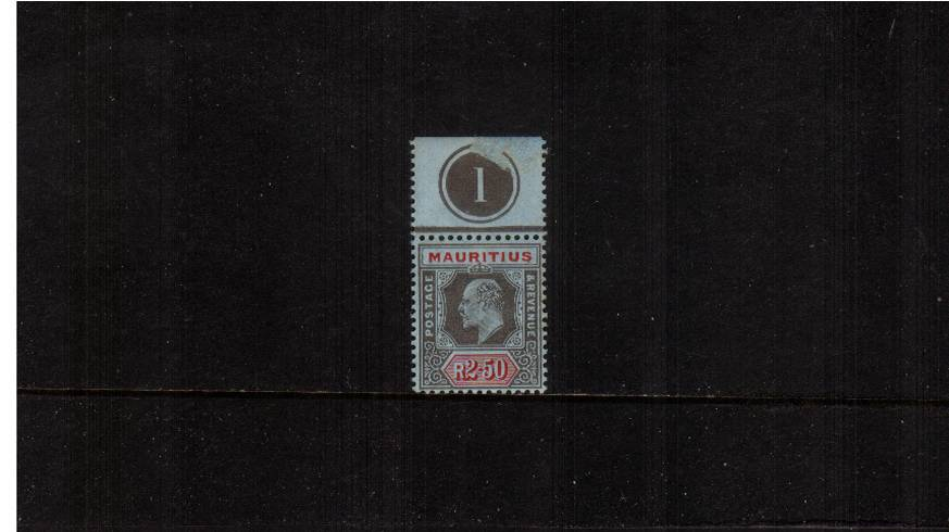 2r50 Black and Red on Blue - Watermark Multiple Crown CA<br/>