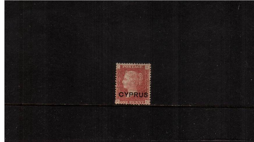 1d Red - Lettered ''R-C'' - Plate 215<br/>