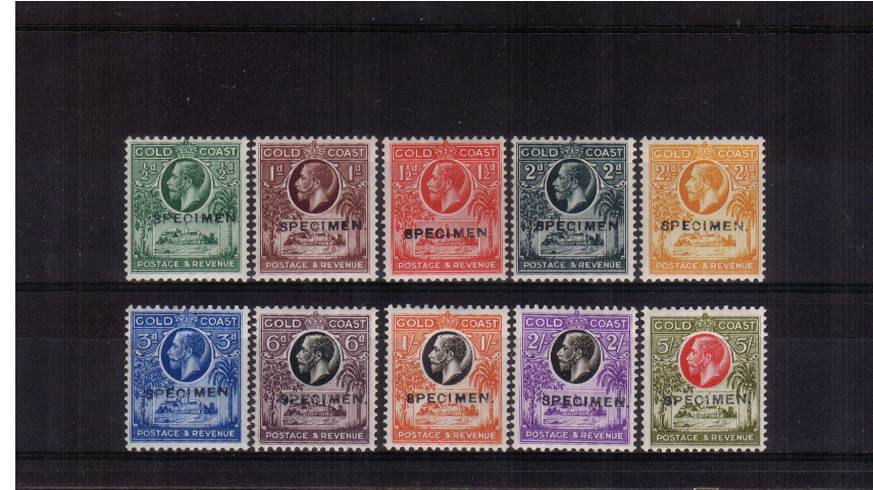 A fine lightly mounted mint bright and fresh set of ten overprinted ''SPECIMEN''. A truly rare set!<br/><b>UHU</b>