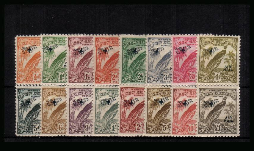 The AIRMAIL overprinted set of sixteen superb unmounted mint. A superb set!