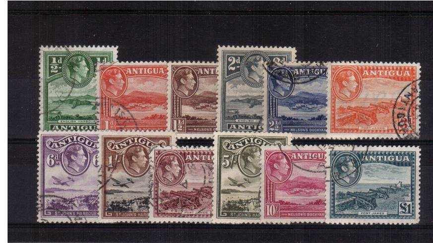 A superb fine used set of twelve with each stamp a selected cancel.