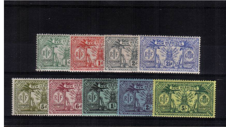 A superb unmounted mint set of nine. Scarce set unmounted.