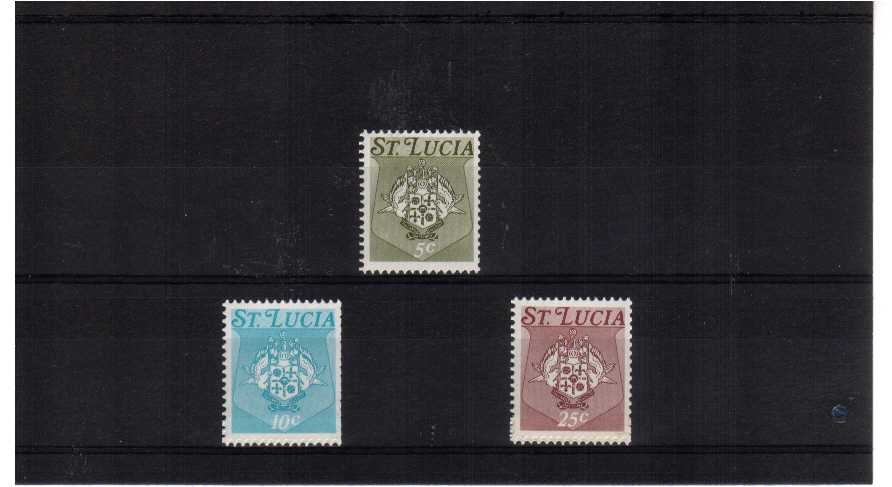 Set of three coil stamps (two are coil joins) superb unmounted mint with watermark SIDEWAYS