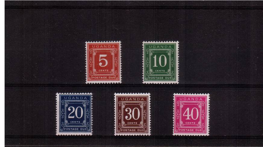 Postage Due set on Glazed Ordinary Paper</b>A superb unmounted mint set of five.