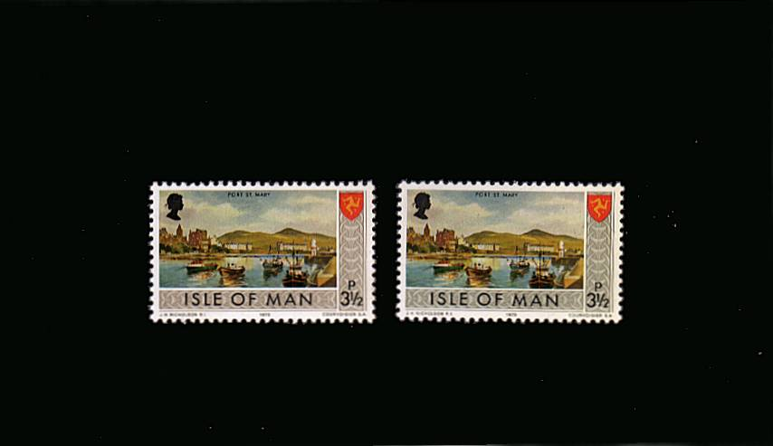 The 3絧 showing the error of colour for the border ''GREY-BROWN''.<br/>A superb unmounted mint single with normal for comparison.<br/>SG Cat �5 
