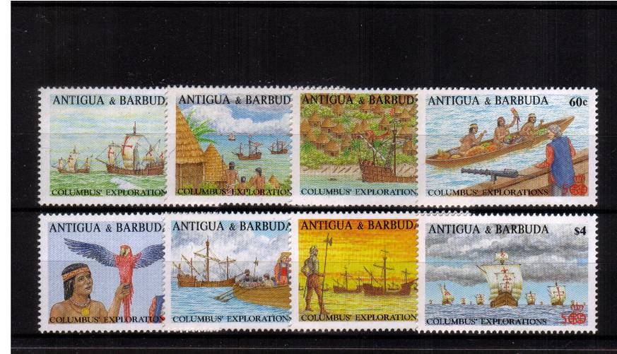 500th Anniversary of Discovery of America by Columbus<br/>A superb unmounted mint set of eight