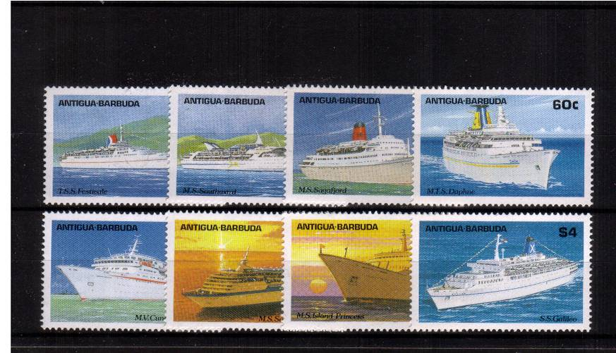 Caribbean Cruise Ships<br/>A superb unmounted mint set of eight