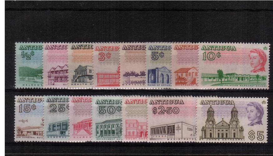 A superb unmounted mint set of fiftteen perforation 13�.