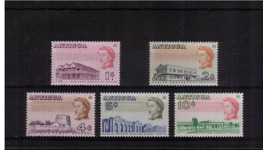 Perforation 13� - GLAZED papers<br/>A complete set of five superb unmounted mint. Rare set!
