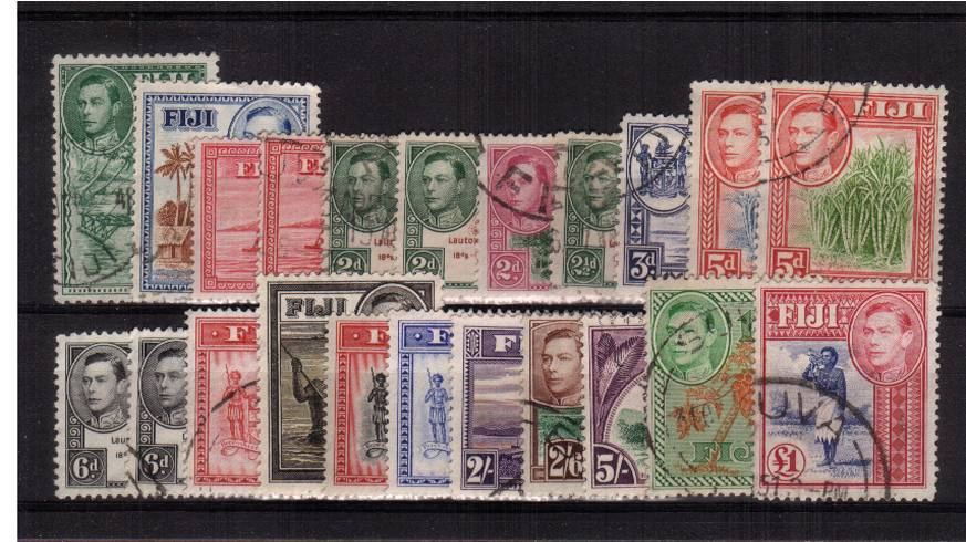 A superb fine used set of twenty-two with each stamp having a selected cancel. Difficult set to build!