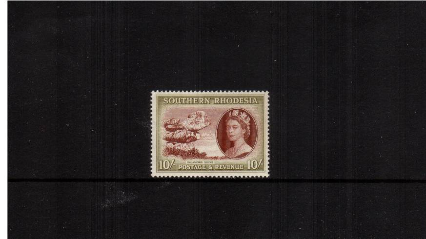 10/- Red-Brown and Olive<br/>