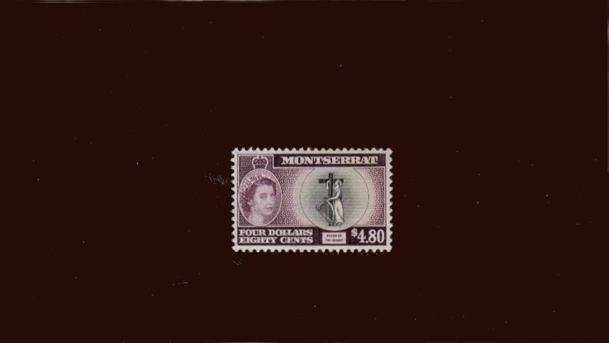 $4.80 Black and Deep Purple - Inscribed ''COLONY''<br/>