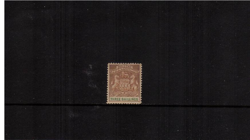 3/- Brown and Green<br/>