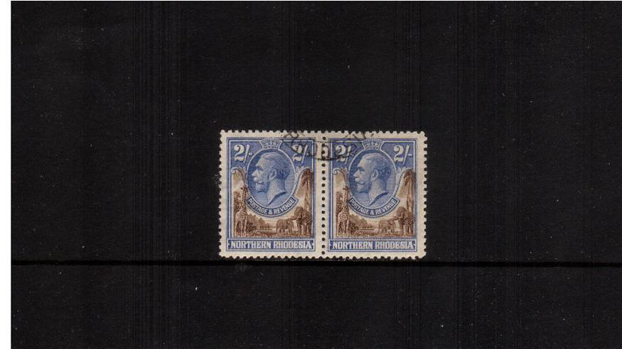 2/- Brown and Untramarine<br/>