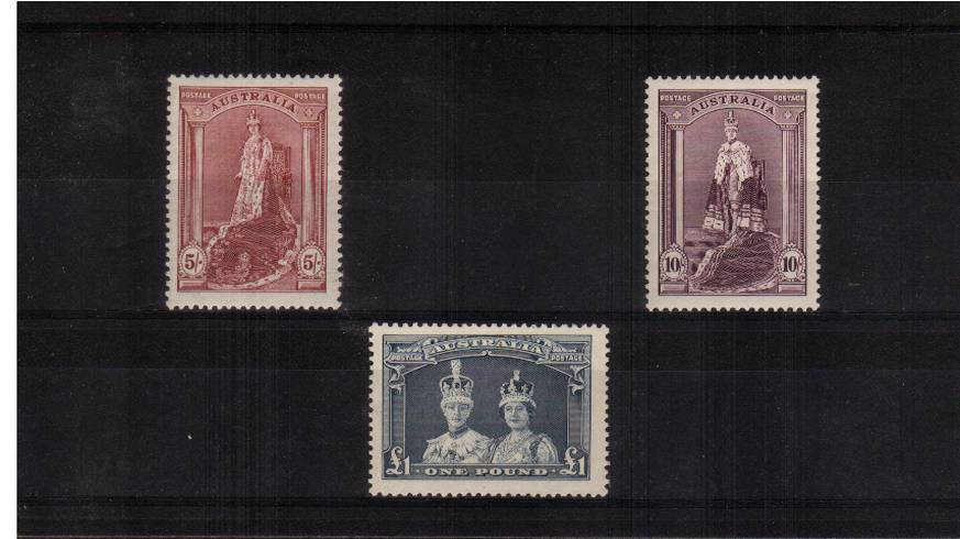 The George 6th high values trio superb unmounted mint.