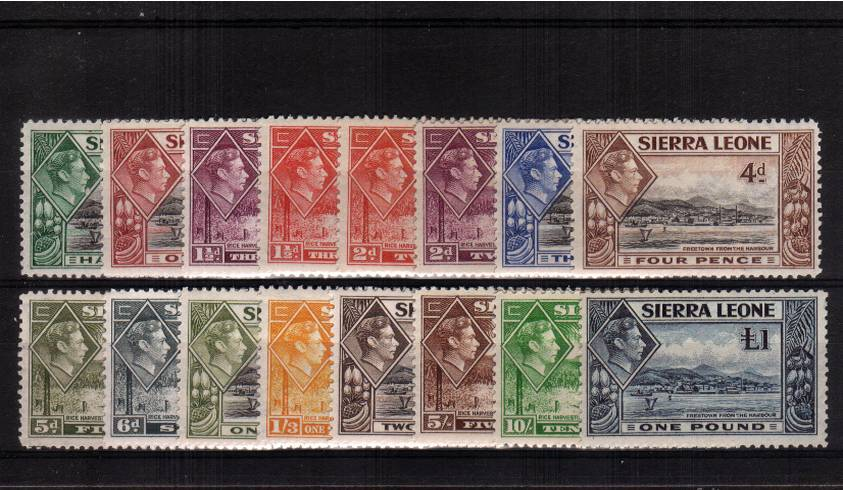 A fine lightly mounted mint set of sixteen with the bonus of the top stamp, the � being unmounted mint. 