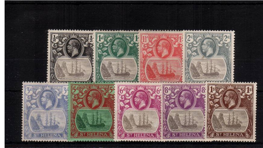 A lightly mounted mint set of nine to the 1/- value. SG Cat �+