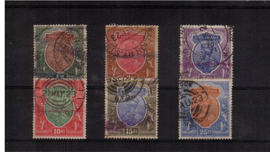 A good used set of the six top values all with the single STAR watermark. <br/>Odd minor faults refelected in the price. SG Cat £137