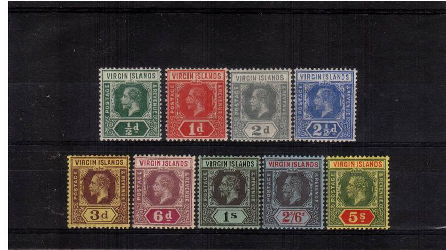 A fine and fresh lightly mounted mint set of nine.
